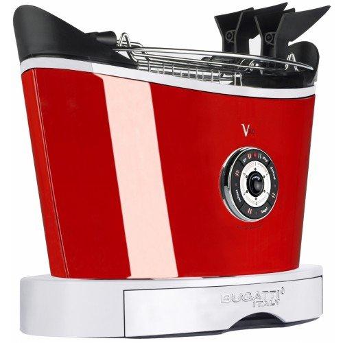 """930W Toaster """"Volo"""" in Schwarz matt / Rot"""