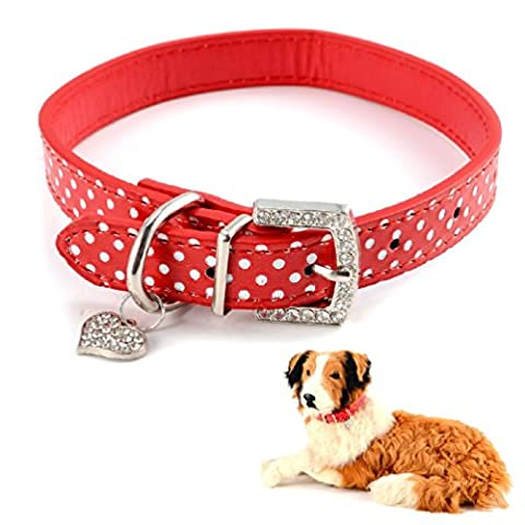 Adjustable Pu Leather Dog Collars Safety Pet Puppy Small Medium