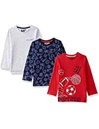 Mothercare Baby Boys' Animal Print Regular Fit T-Shirt (Pack of 3)