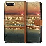 DeinDesign Apple iPhone 8 Plus Étui Étui Folio Étui magnétique People Wait 2