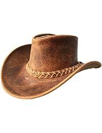BRANDSLOCK Hommes Chapeau Western Bush Style Vintage Bord Large Cowboy Australien