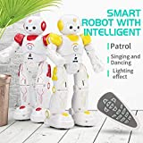 Momola Kids Remote Control Robot Toy, Intelligent JJRC R12 Remote Control Programmable Song/ Dance RC Robot Toy Fun Robotic Birthday Gifts for Kids
