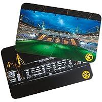 Borussia Dortmund BVB Frühstücksbrettchen Set Stadion, Kunststoff, Mehrfarbig 15 x 10 x 2 cm, 2-Einheiten