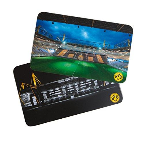"""BVB Frühstücksbrettchen Set \""""Stadion\"""" 2 Stück, Kunststoff, Mehrfarbig, cm, 15 x 10 x 2 cm, 2 Einheiten"""