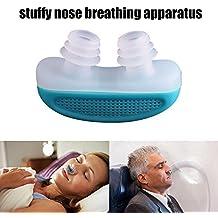 Dispositivo avanzado antironquidos Nabati Nabati(TM) dispositivo antironquidos magnético pinza de silicona para nariz para dormir, color al azar