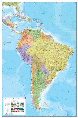 Komar WPE0414Wallpops Südamerika schälen und Stick Karte