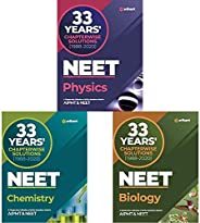 33 Years Chapterwise Solutions NEET Physics , Chemistry and Biology 2021 (Set of 3 Books)