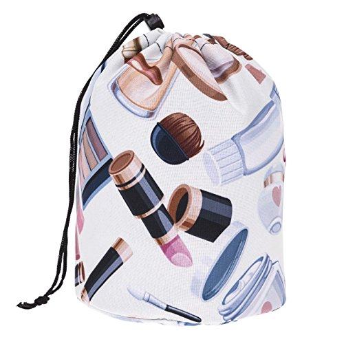 Grand Sac ronde pour les cosmétiques Trousse de toilette trousse a maquillage organisateur trousse de voyage Beige XT [034]