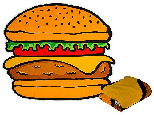 Badetuch 150x170 cm Beach Strand-Tuch Decke Liegetuch Soft Weich Strandlaken Handtuch Hamburger