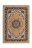 Teppich Wohnzimmer Carpet Klassisch Traditionell Design Rohullah 6010 Rug Ornament Muster Polypropylen 120x170 cm Beige/Teppiche günstig Online kaufen