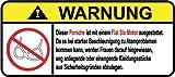 Porsche Flat Six Motor German Lustig Warnung Aufkleber Decal Sticker