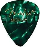 Fender 198-0351-871 351 Shape Medium Classic Celluloid Picks, 12-Pack, Green Moto
