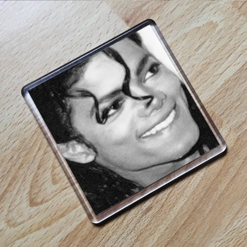 MICHAEL JACKSON - Original Art Coaster #js006 by Coasters - Music