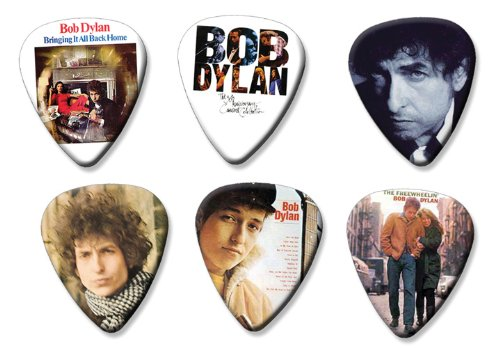 Bob Dylan Set of 6 Loose Gitarre Plektrum Plektron Picks ( Collection A ) (Bob Dylan-gitarre Picks)