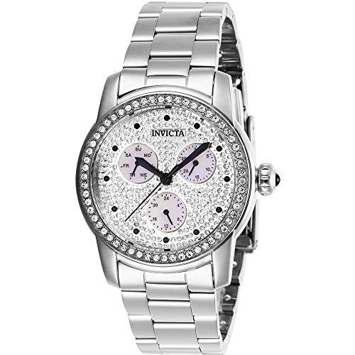 Invicta Angel + cassa quarzo bracciale orologio da polso da donna 38mm in acciaio inox 28466