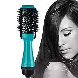 Manooby Brosse Soufflante à Cheveux Sèche-Cheveux Electrique Fer à Friser Lisser Défrisant Bigoudi Styler à Ions Négatifs