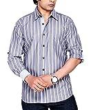 Moksh Men's Striped Casual Shirt V2IMS04...