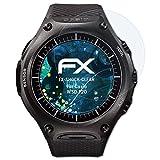 atFoliX Schutzfolie kompatibel mit Casio WSD-F20 Panzerfolie, ultraklare & stoßdämpfende FX Folie (3X)