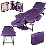 Massage Imperial® Richmond -Table de massage Portable pro luxe - Aluminum - 3 Zones - Couleur : Violet