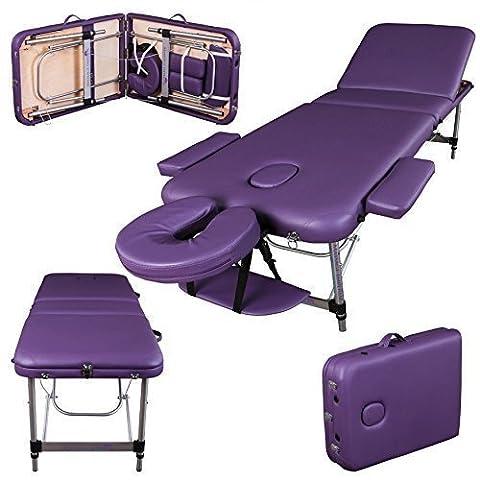 Massage Imperial® - tragbare Massageliege Richmond - Aluminium - 12 kg - 5 cm Schaumstoff (Letto Viso)