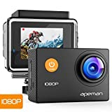 APEMAN Action Cam Full HD 1080P con Custodia Impermeabile Subacqueo Action Sport...