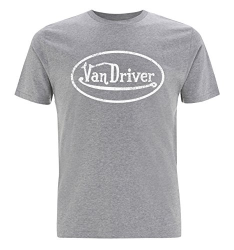 Herren Van Fahrer Logo T - Shirt VW T4, T5, T6 Wohnwagen geschenke Grau