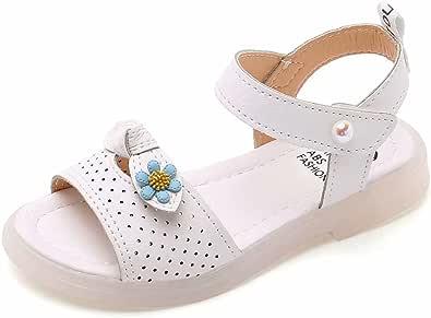 Sandali Punta Aperta Bambina Sandalo con Cinturino alla Caviglia Bimba Comode Estive Scarpe per Ragazze di 4-12 Anni