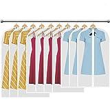 HBselect 10 stück Kleidersack transparente Kleiderhüllenmit Reißverschluss...