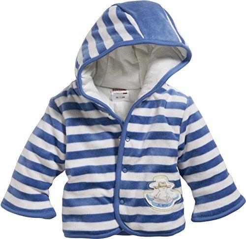 Schnizler Unisex Baby Jacke Jäckchen Nicki Blockstreifen Wattiert, Oeko-Tex Standard 100, Blau (Blau 7), 62