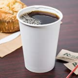 Tazas de papel de color blanco para café té caliente 12oz.- 350ml. (Paquete de 50)