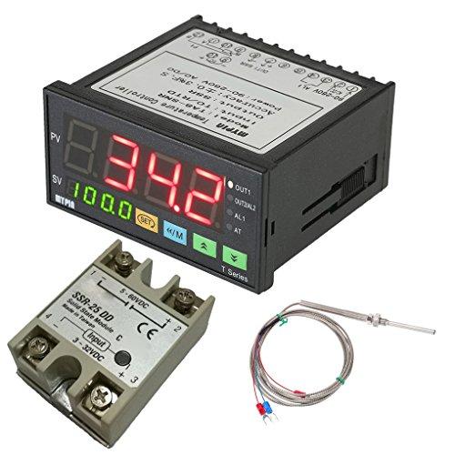 Topker MyPin TA8-SNR Digital-F / C PID-Temperaturregler PT100-Temperaturfühler Wasserdichte Edelstahl Thermo SSR