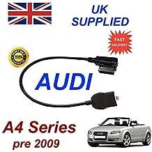 AUDI A4 Series Pre MY 2009 Generación 2 AMI MMI cable de Audio para iPhone 5, 5c 5s 6 & 6 Plus requiere 8 pines conexión & AUX 3.5mm conector cable by cablesnthings