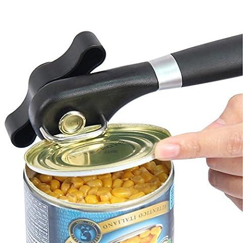 Zycshang très résistant en acier inoxydable Peut Ouvre-boîte ustensile de cuisine avec un nettoyage facile Grip Utilisation en toute sécurité