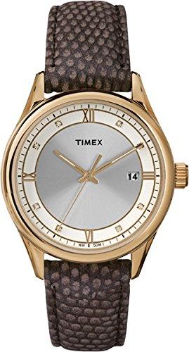 Timex Timex® Women's Classic Strap – Reloj Analógico de Cuarzo para Mujer, correa de Cuero color Marrón