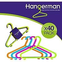 Juego de 40 perchas de Hangerman, de plástico, para ropa infantil