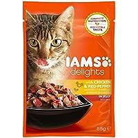 Iams Delights Adult Huhn & Paprika, Nassfutter für erwachsene Katzen, Probiergröße (1 x 85 g)