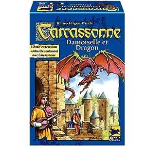 Schmidt - 88122 - Jeux De Société - Carcassonne Extension Damoiselle Et Dragon