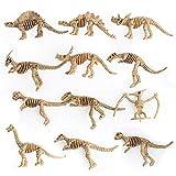 Flyes 12pcs Educational simulée Dinosaure Squelette Modèle Jouet pour Enfants...