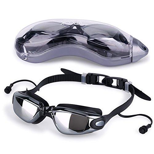 d674cdc37adf Vpcok Gafas de Natación Impermeable UV Anti-niebla Deporte Profesional  Ajustable Para Hombres Mujeres Gafas Deportivas Con Auriculares