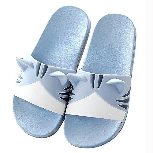 WSNH888 Sandali Da Doccia Antisdrucciolevoli, Pantofole Da Donna/Slip Da Uomo House Scarpe Da Piscina Morbide In Spugna Morbida, Scarpe Da Bagno Per Il Bagno,Blue,43