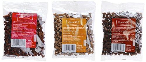 hundeinfo24.de Chewies Hundeleckerli Multipack 2, 3 x 200 g Lamm Wild Lachs, 1er Pack (1 x 600 g)