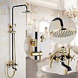 Marineblauer Luxuxregen-Duschsysteme, an der Wand befestigte Dusche kombinierte Duschen-Sätze mit Regen-Fall-Duschkopf und Hand gesetzter voller Körper-Abdeckung Einfach zu säubern und zu installieren