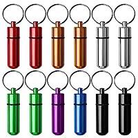 علبة منظم زجاجات من الألومنيوم المقاوم للماء مع سلسلة مفاتيح (12 قطعة في 7 ألوان) من Freewalk