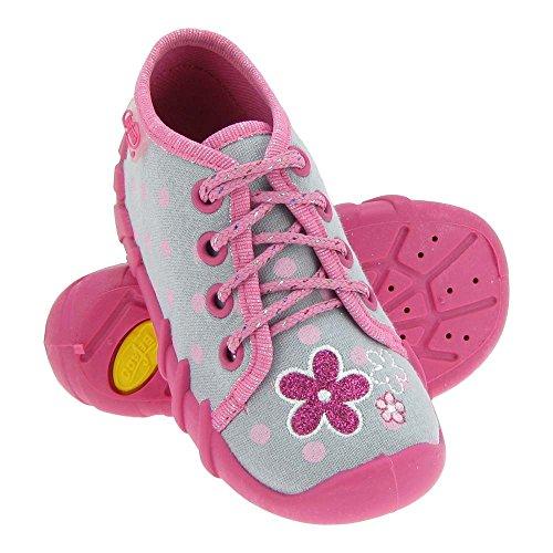 GALLUX - Mädchenschuhe Hausschuhe Mädchen Freizeit Sneaker Grau/Rosa