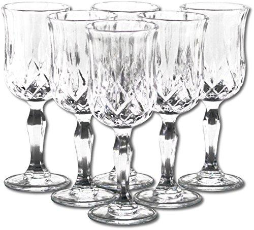 6x Weinkelch / Nostalgie Barock Weinglas, Landhaus Weingläser Set