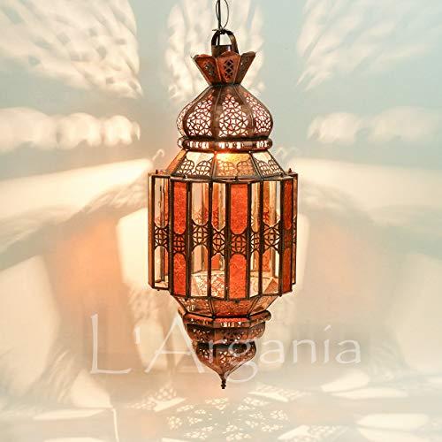 Lampada marocchina - Malika ambra - Lanterna - Dimensioni H77 X 30 cm