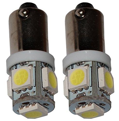 Preisvergleich Produktbild Aerzetix - 2 X LED - Birne T4W T5W BA9s 12V 5LED SMD Weiß Xenon-Effekt Innenbeleuchtung Kontrollleuchten Deckenschwellen Füßen Tresortür Kartenleser Motorraum