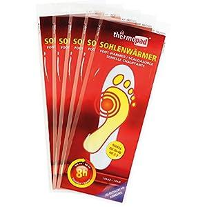 Thermopad Sohlen-Wärmer | kuschlig warme Fußwärmer | sofort einsatzbereit | 8 Stunden lang 37°C | einfache Anwendung wohltuender Wärme-Sohlen | selbstklebend | 5 Paar