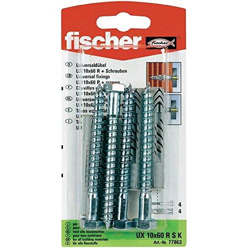 fischer-77863-10-x-60-mm-x-estante-universal-plug-multicolor-4-piezas