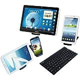 """Leicke – Teclado universal para Android con funda protectora para smartphones y Tablets """"Bluetooth wireless"""""""
